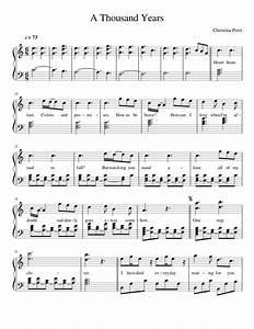 Christina Perri - A Thousand Years | Sheet music for Piano ...