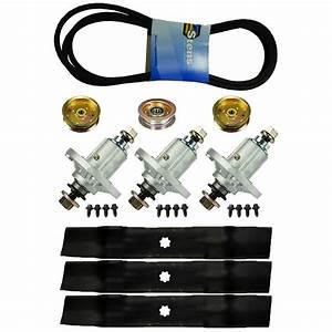 Lawn Mower Deck Blades Spindles Belt Idler Kit John Deere