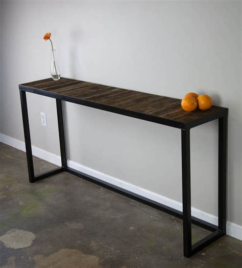 console tables sofa tables combine  industrial