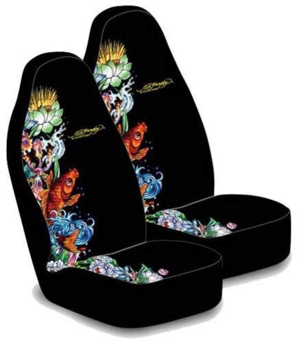 ed hardy koi fish seat cover pair everythingcars