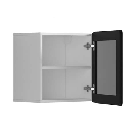 Floating Glass Cabinet - possi light 1 window floating cabinet with shelf and led