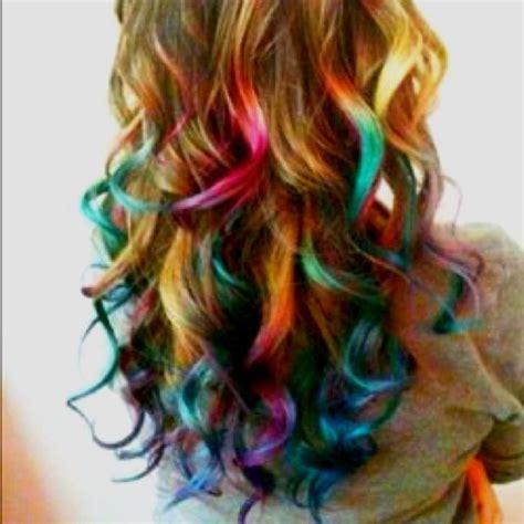 Multi Colored Dip Dye Hair I Like Pinterest Summer