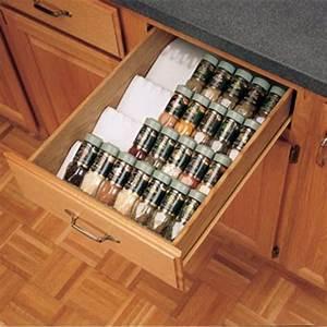 Kitchen Drawer Organizer Spice Tray Insert, Rev-a-Shelf