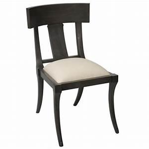 Klismos Chair Dining Chair (Ebony Dusk Gray)