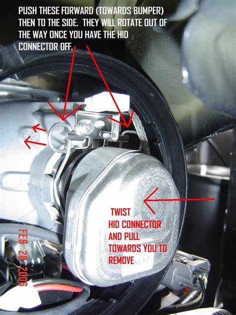 diy hid bulb change w o bumper removal 3g garage g