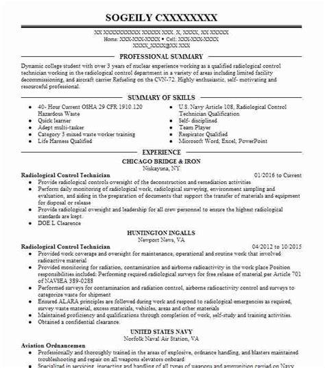 engineering technician resume exle ares associates