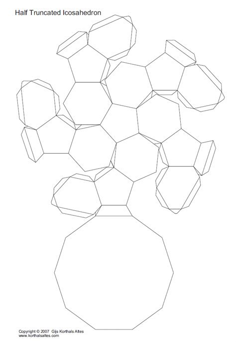 Truncated Cuboctahedron Template by Papercraft Geometrico Identi