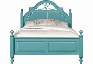 Cindy Crawford Home Seaside Blue Green 3 Pc Queen Low