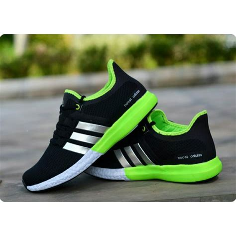 jual sepatu casual sport pria adidas ultra boost keren gaya cowok warna hitam hijau navy hitam
