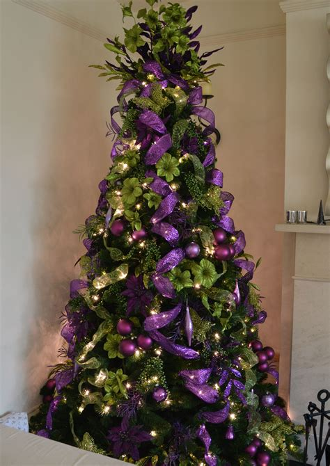 purple  green christmas tree christmas decorators