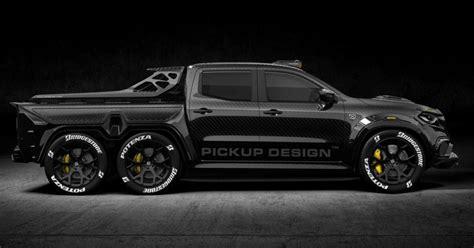 35x12.5x 16 r bf goodrich km3 mud tire. THE MERCEDES-BENZ 'MONSTER X' IS A 6X6 CARBON FIBER PICKUP TRUCK - classic