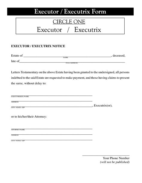 letter of appointment of executor template with sle appointment letter executor template sle best 29723