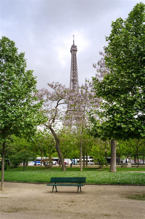 champ de mars park paris france stock photo image