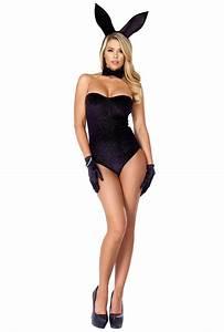 Forplay black playboy bunny bodysuit costume