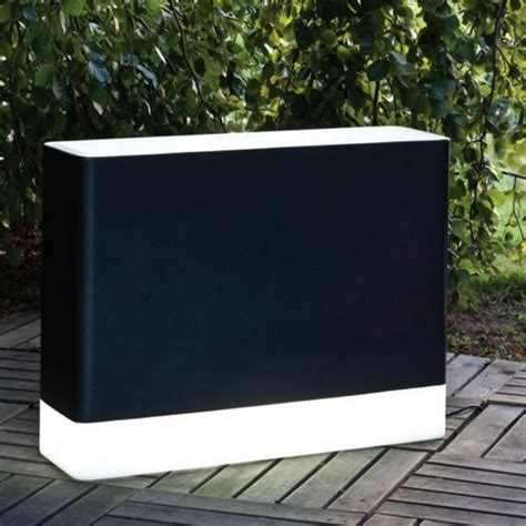 illuminated outdoor planter in black and white plant pots planters chicago by home
