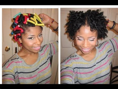how to do a flexi rod short natural hair mma style and short hairstyles