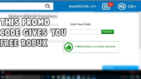 roblox  promo code give   billion  robux