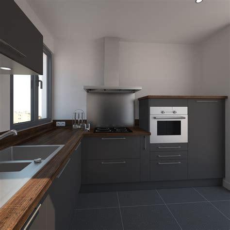 deco cuisine gris et noir impressionnant deco cuisine noir et gris 4 cuisine