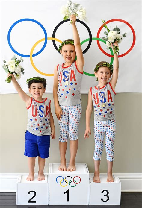gold   olympics themed kids party