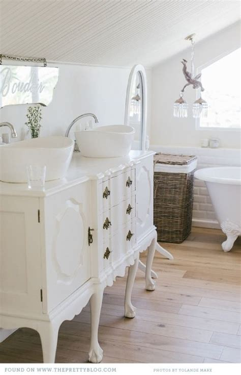 shabby chic white bathroom vanity 29 vintage and shabby chic vanities for your bathroom