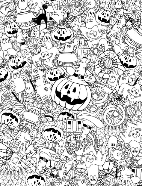 adult coloring book happy halloween  relaxation