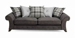 Woodland 4 seater pillow back sofa oakland dfs sofa for Perez 4 seater pillow back sectional sofa