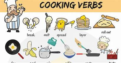 Verbs Cooking Words English Useful Vocabulary