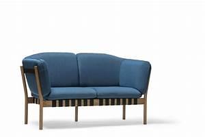 Canapé Bois Et Tissu : magnifique canap lounger dowel design scandinave en tissu ~ Teatrodelosmanantiales.com Idées de Décoration