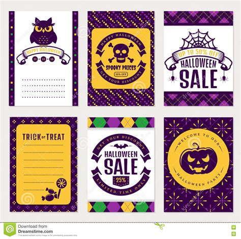 You can mix and match your own paper colors and patterns to create halloween decor with your own. Halloween Banners. Vector Set. Stock Vector - Illustration ...