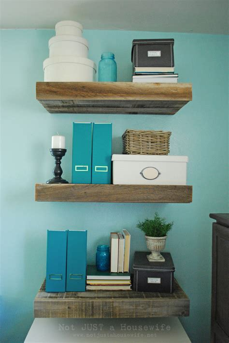 Reclaimed Wood Floating Shelves  Not Just A Housewife