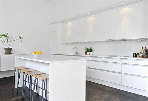 black white contemporary loft  stockholm sweden