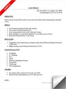 student resume exles skills for a manager resume for internship sle inspiration decoration