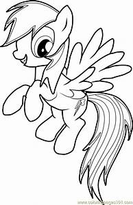 Rainbow Dash Coloring Page - Free My Little Pony ...