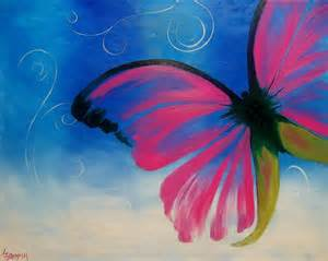 Mystical Butterfly Painting