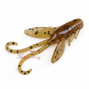12X 1.5″ Fishing Baby Craw Bug Crayfish Soft Plastic Light ...