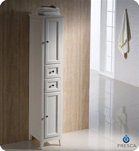 fresca oxford  traditional bathroom tall linen side
