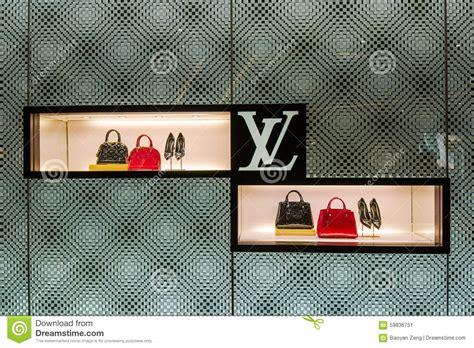 louis vuitton bag store shop window editorial photo