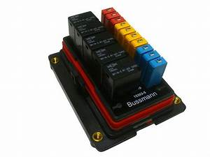 Bussmann Waterproof Fuse Relay Panel Box Car Truck Atv Utv