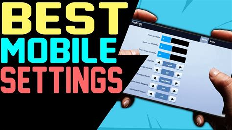 fortnite  mobile settings  android ios  tablet
