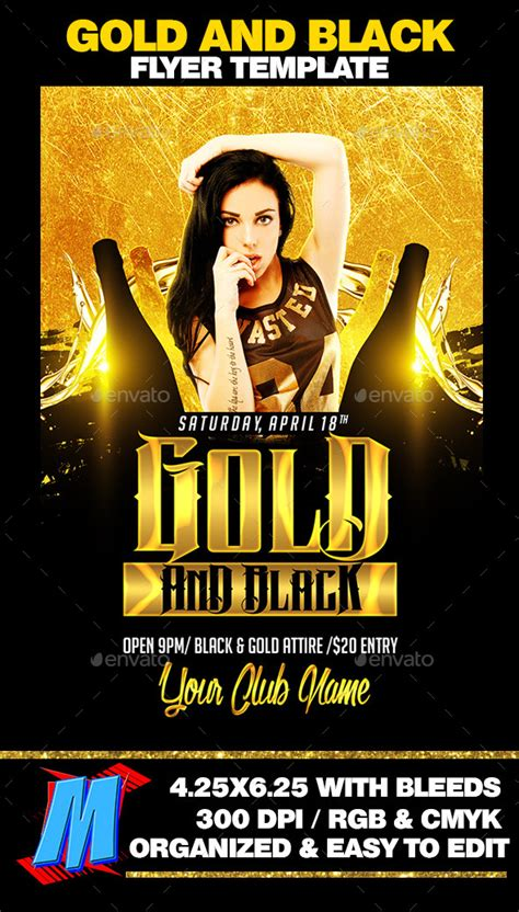 gold  black flyer template  megakidgfx graphicriver