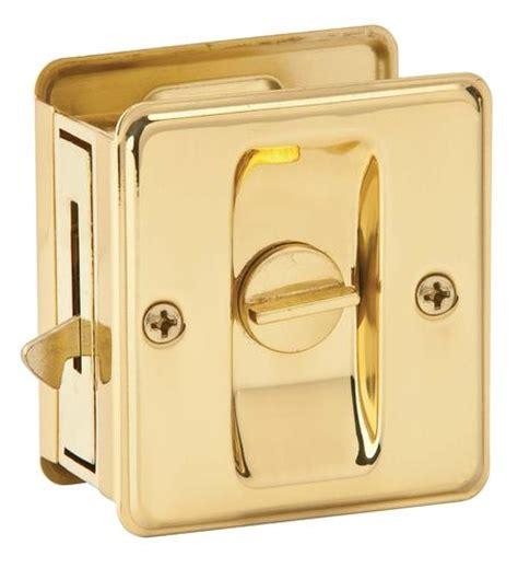 Menards Sliding Glass Door Lock by Schlage Privacy Sliding Door Lock In Bright Brass