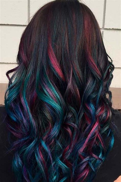 rainbow hair ideas  pinterest