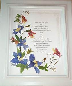 wedding invitations keepsake with pressed flowers With wedding invitations framed with pressed flowers