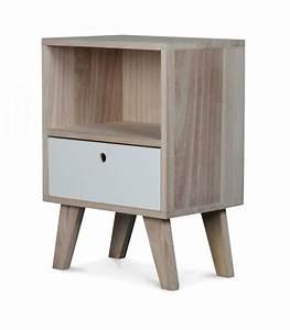 Table De Chevet Design : table de chevet design en bois haut 50cm ~ Teatrodelosmanantiales.com Idées de Décoration