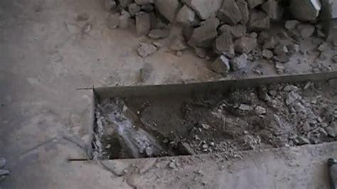 cut  concrete bathroom floor