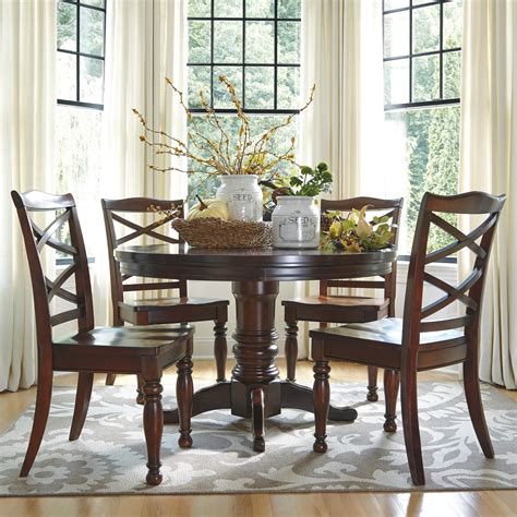 circle dining table set ashley furniture porter 5 piece round dining table set