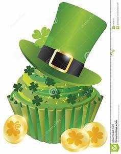 St Patricks Day Leprechaun Hat Cupcake Stock Vector ...