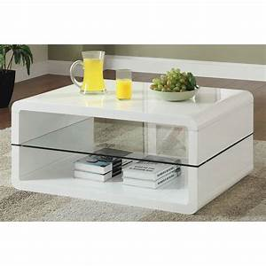 glossy white contemporary clear temper glass sleek modern With contemporary espresso coffee table