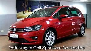 Volkswagen Golf Sportsvan Confortline : volkswagen golf sportsvan 1 6 tdi comfortline fw576460 sunset red autohaus czychy youtube ~ Medecine-chirurgie-esthetiques.com Avis de Voitures