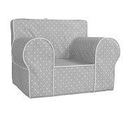 pin dot anywhere chair slipcover oversized gray pin dot anywhere chair pottery barn